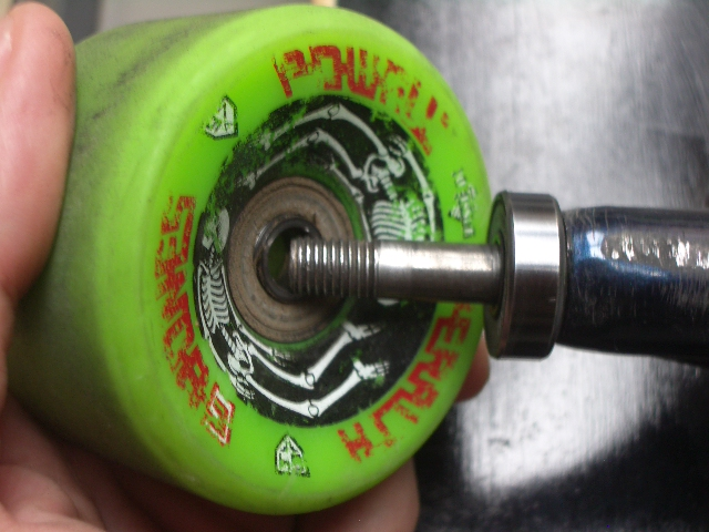 flip the wheel over and repeat with the outside bearing